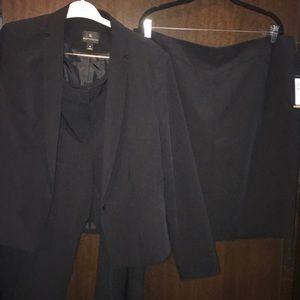 Worthington 3 PC Suit Black Sz 18